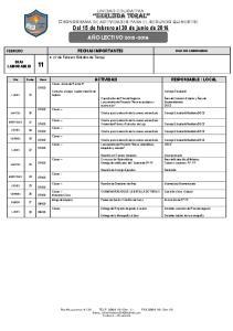 HERLINDA TORAL Cronograma de actividades para el segundo quimestre Del 15 de febrero al 30 de junio de 2016