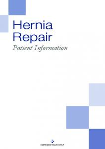 Hernia Repair Patient Information
