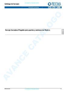 Herraje Corredero-Plegable para puertas y ventanas de Madera