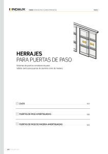 HERRAJES PARA PUERTAS DE PASO