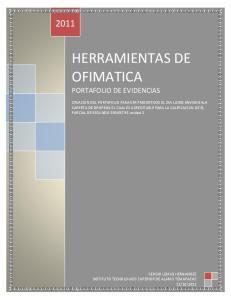 HERRAMIENTAS DE OFIMATICA PORTAFOLIO DE EVIDENCIAS