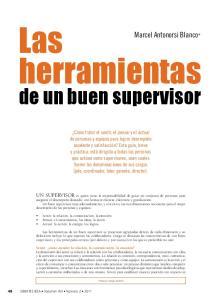 herramientas de un buen supervisor Marcel Antonorsi Blanco*
