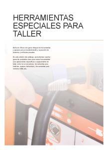 HERRAMIENTAS ESPECIALES PARA TALLER
