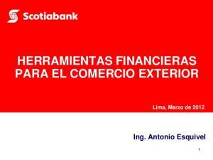 HERRAMIENTAS FINANCIERAS PARA EL COMERCIO EXTERIOR
