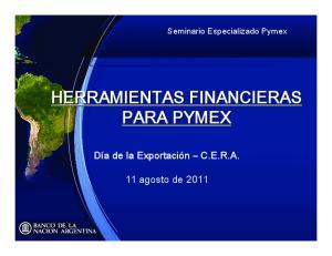 HERRAMIENTAS FINANCIERAS PARA PYMEX