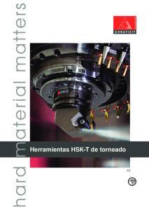 Herramientas HSK-T de torneado