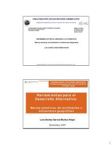 Herramientas para el Desarrollo Alternativo: