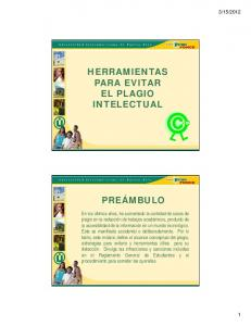 HERRAMIENTAS PARA EVITAR EL PLAGIO INTELECTUAL