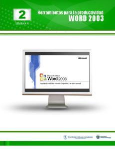Herramientas para la productividad WORD 2003