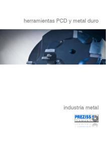 herramientas PCD y metal duro
