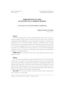 HERRAMIENTAS SIG PARA EL ESTUDIO DE LA CARMONA ROMANA GIS TOOLS TO STUDY ROMAN CARMONA