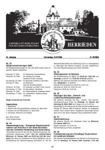 HERRIEDEN AMTSBLATT DER STADT UND DES SCHULVERBANDES