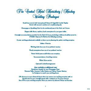 Hershey Wedding Packages