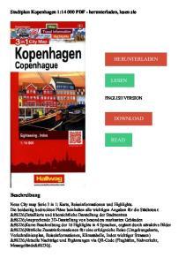 HERUNTERLADEN LESEN DOWNLOAD READ. Beschreibung. Stadtplan Kopenhagen 1: PDF - herunterladen, lesen sie ENGLISH VERSION