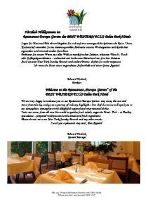 Herzlich Willkommen im Restaurant Europa Garten des BEST WESTERN PLUS Delta Park Hotels