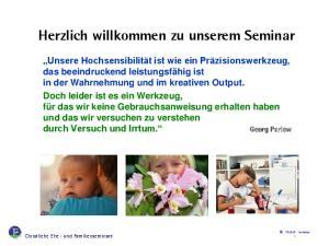 Herzlich willkommen zu unserem Seminar