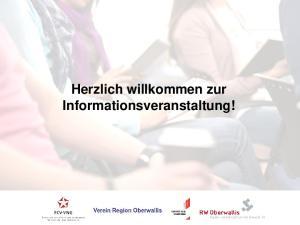 Herzlich willkommen zur Informationsveranstaltung!