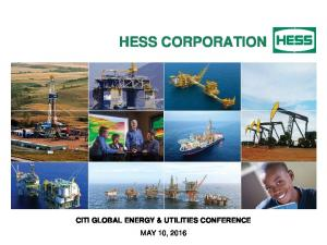 HESS CORPORATION CITI GLOBAL ENERGY & UTILITIES CONFERENCE