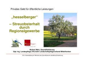 hesselberger Streuobsterhalt durch Regionalgewerbe