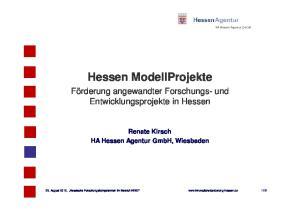 Hessen ModellProjekte