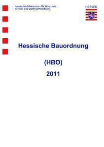 Hessische Bauordnung (HBO) 2011