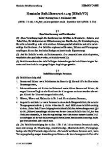 Hessische Beihilfenverordnung (HBeihVO)