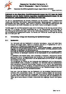 Hessischer Handball-Verband e. V. Bezirk Wiesbaden Bezirk Frankfurt