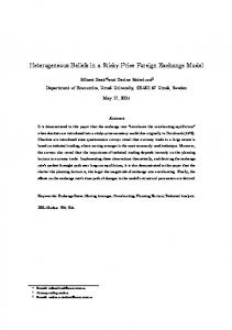 Heterogeneous Beliefs in a Sticky-Price Foreign Exchange Model