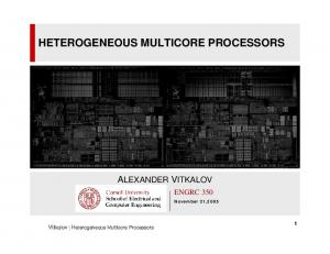 HETEROGENEOUS MULTICORE PROCESSORS