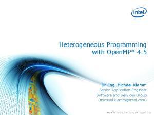 Heterogeneous Programming with OpenMP* 4.5