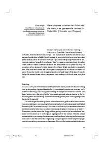 Heterotopiese ruimtes van krisis en die natuur se genesende invloed in Chinchilla (Nanette van Rooyen)