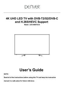 HEVC Support Model: LED-6569T2CS. User s Guide
