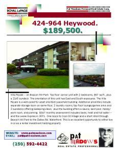 Heywood. $189,500