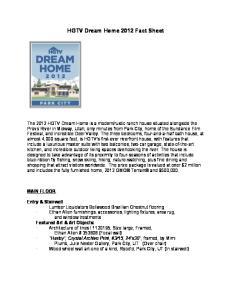 HGTV Dream Home 2012 Fact Sheet