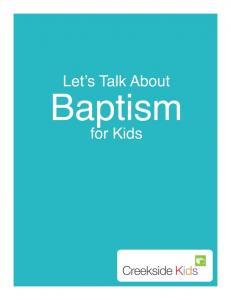 Hi there! If you have any questions as you are thinking about baptism, come talk to me! Pastor Kate