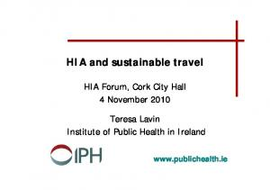 HIA and sustainable travel