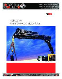 Hiab XS 477 Range 290, ,000 ft-lbs