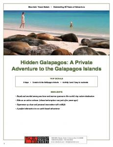 Hidden Galapagos: A Private Adventure to the Galapagos Islands