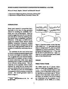 HIDDEN MARKOV INDEPENDENT COMPONENTS FOR BIOSIGNAL ANALYSIS