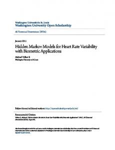 Hidden Markov Models for Heart Rate Variability with Biometric Applications