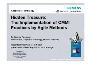 Hidden Treasure: The Implementation of CMMI Practices by Agile Methods