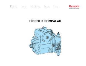 Hidrolik pompalar ile ilgili temel kavramlar