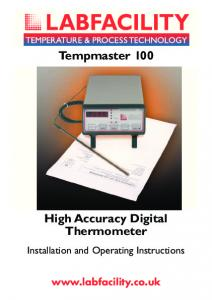 High Accuracy Digital Thermometer