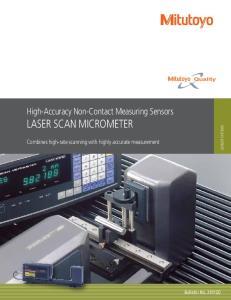 High-Accuracy Non-Contact Measuring Sensors LASER SCAN MICROMETER