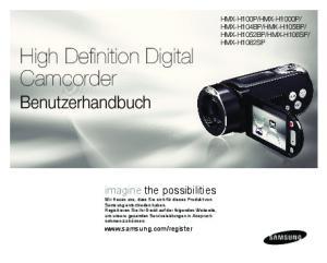 High Definition Digital Camcorder Benutzerhandbuch
