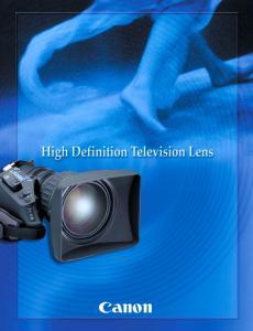 High Definition TV Lenses