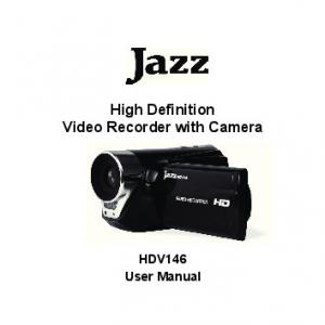 High Definition Video Recorder with Camera. HDV146 User Manual