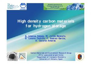 High density carbon materials for hydrogen storage