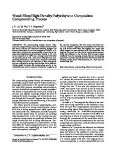 High-Density-Polyethylene Composites: Compounding Process