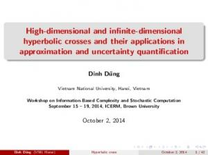 High-dimensional and infinite-dimensional hyperbolic crosses and their applications in approximation and uncertainty quantification